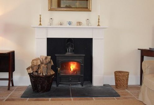 Woodburning stove at Marl House